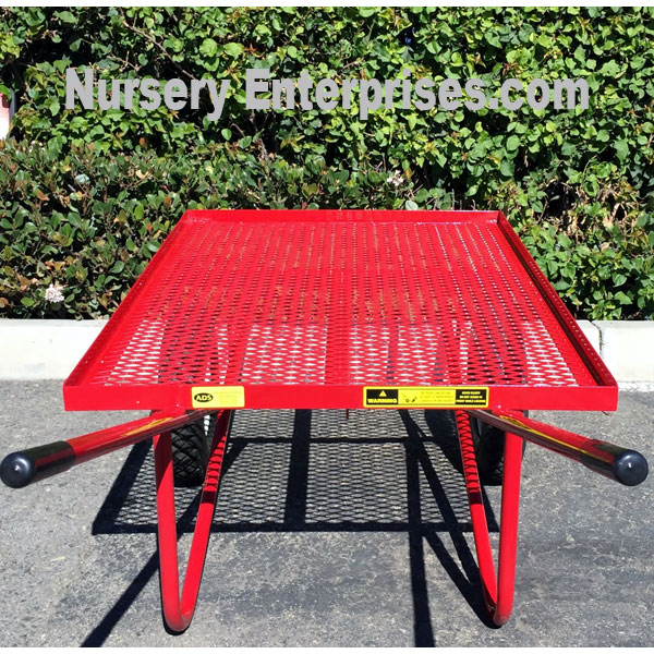 Flat Deck Two-wheeled Wagon | Nursery Enterprises