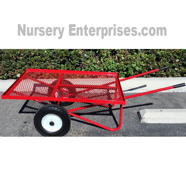 Flat Mesh Deck Wheelbarrow two-wheeled Cart