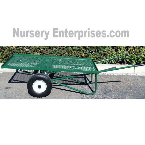 Nursery Cart Flat Mesh 26 W X 58 L Deck Wheelbarrow