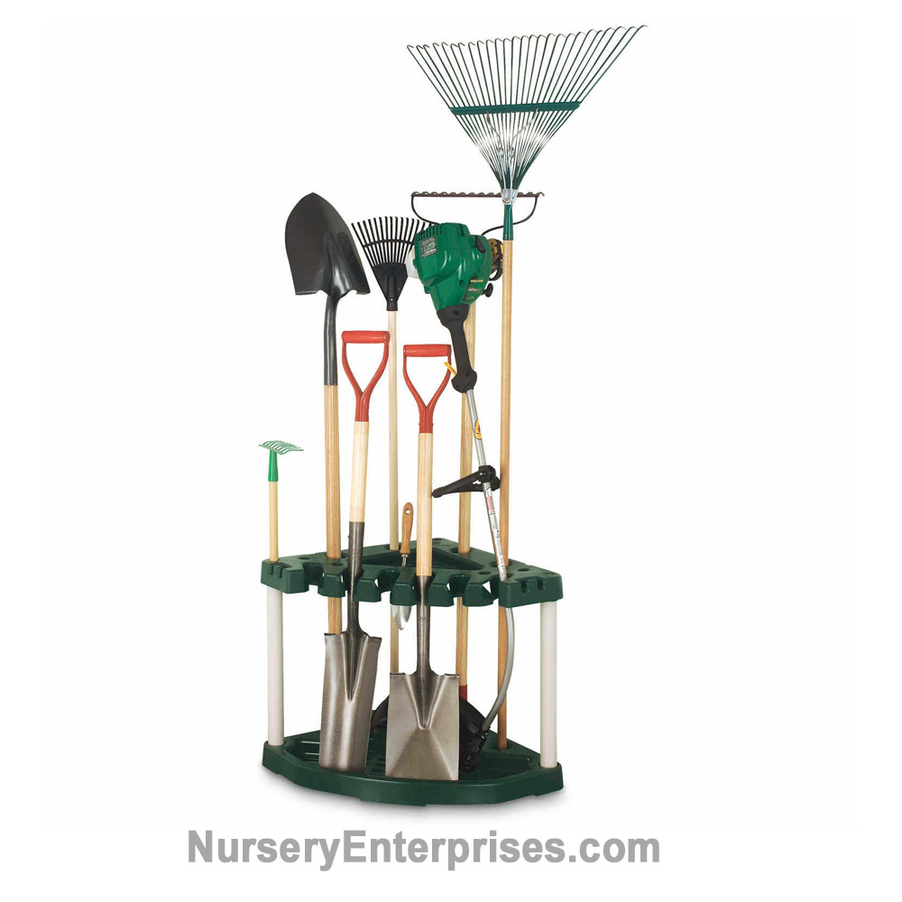 Plano Corner Tool Rack and Organizer | Nursery Enterprises