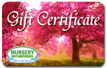 Garden Supplies Gift Certificate | Nursery Enterprises